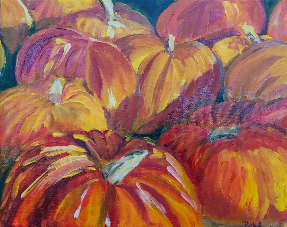"""Pumpkin Patch"" original fine art by Renee Robison"