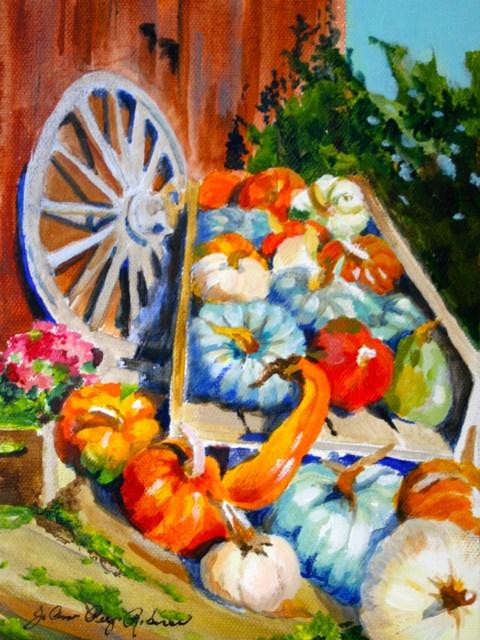 """Hoey Barn in the Fall"" original fine art by JoAnne Perez Robinson"