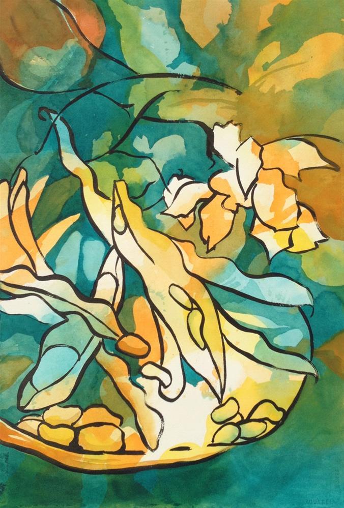 """Favas"" original fine art by Julie Crouch"