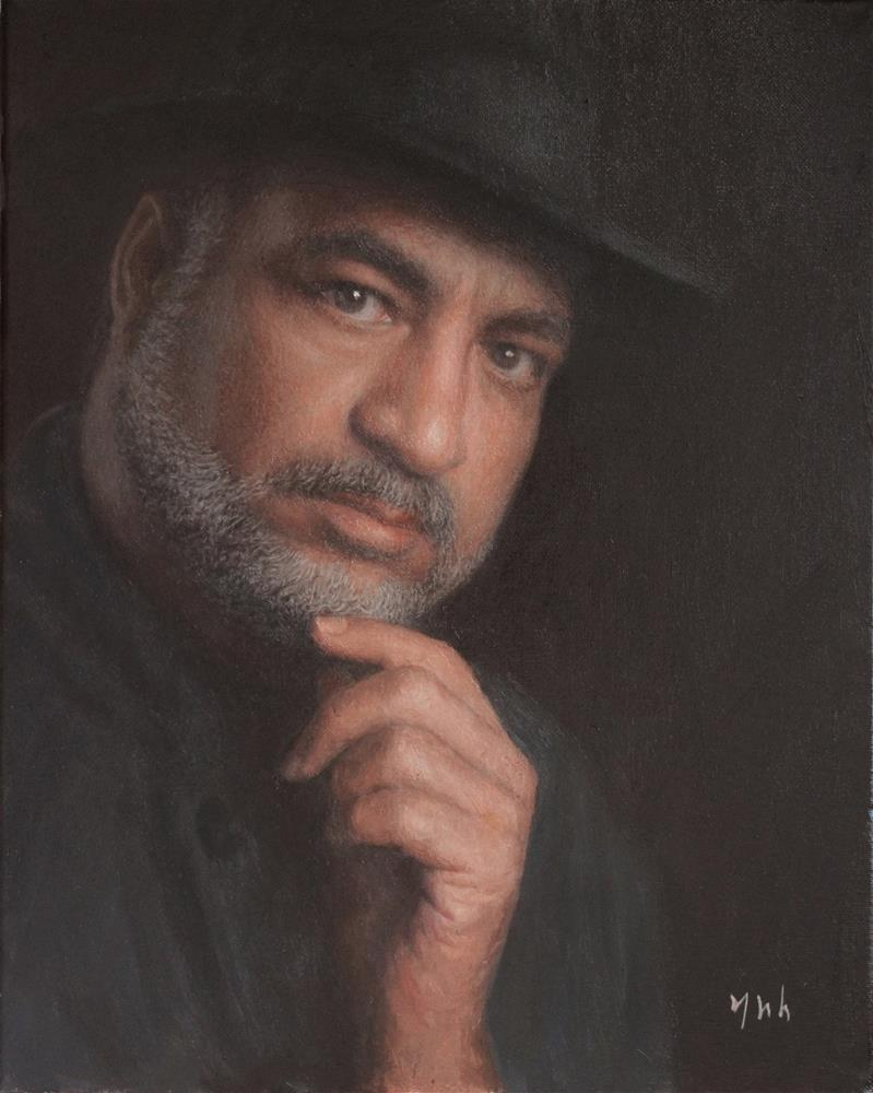 """Sayed Badreya (Commissioned Portrait)"" original fine art by Yuehua He"