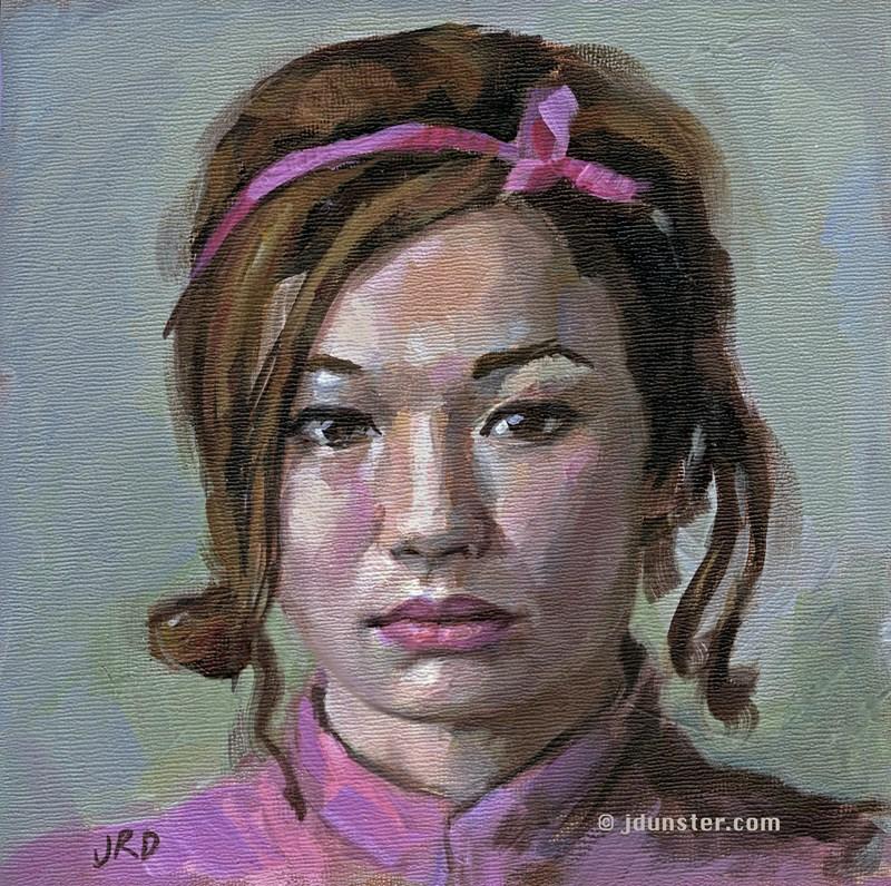 """""""Pink Ribbon"""" original fine art by J. Dunster"""