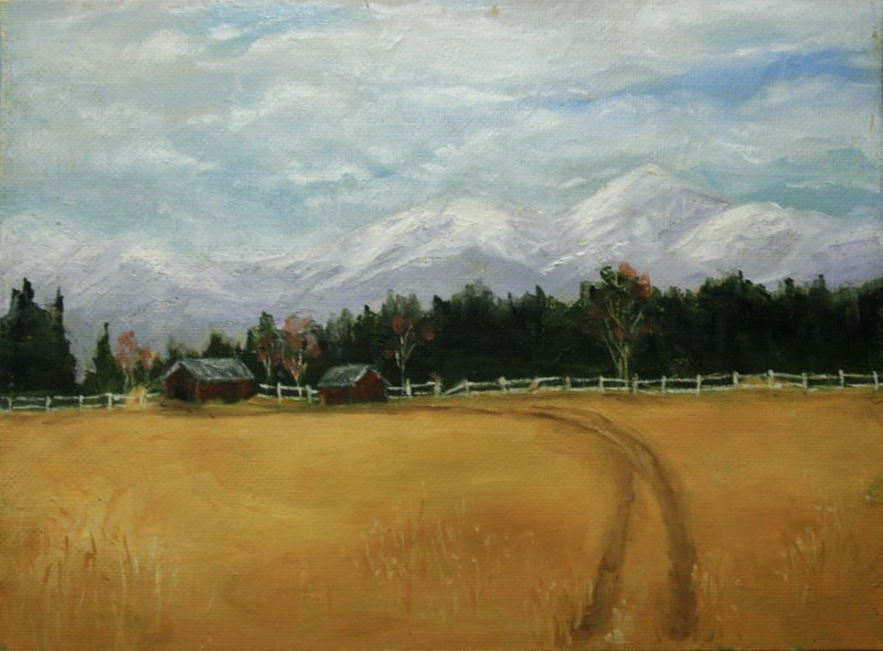 """Valley Farm"" original fine art by Jean Nelson"