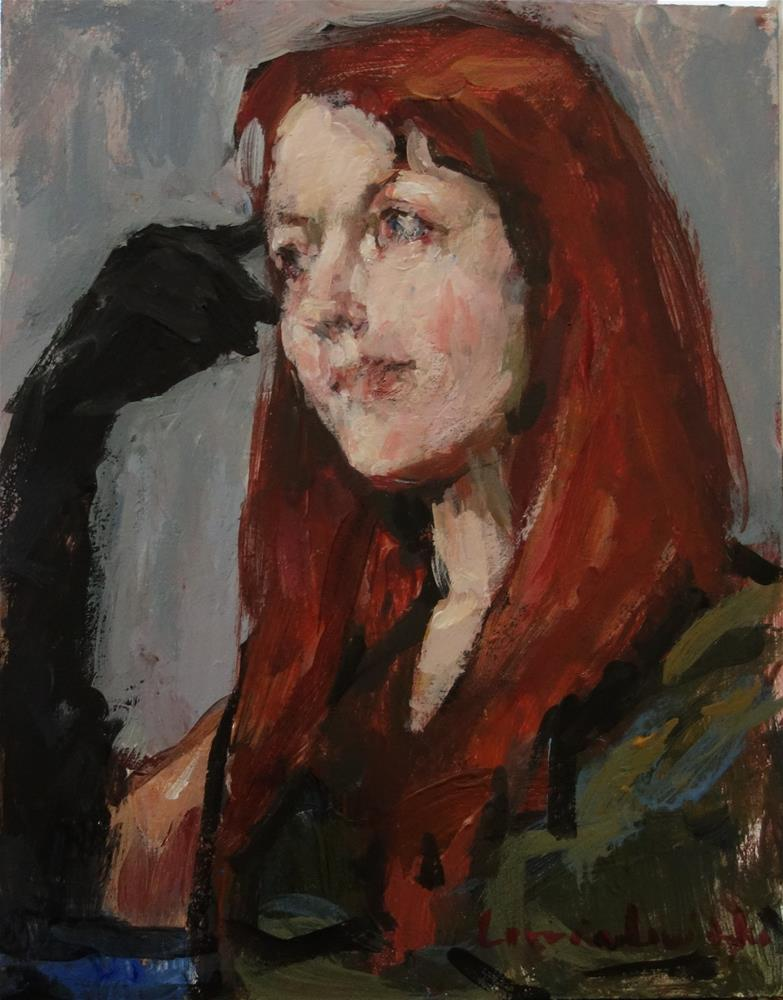 """Thoughtful"" original fine art by Lorraine Lewitzka"