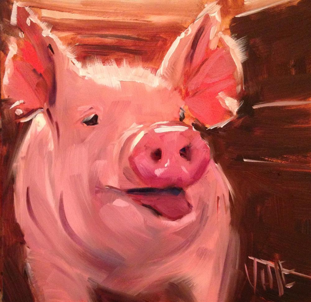 """""""#178 Hammie"""" original fine art by Patty Voje"""