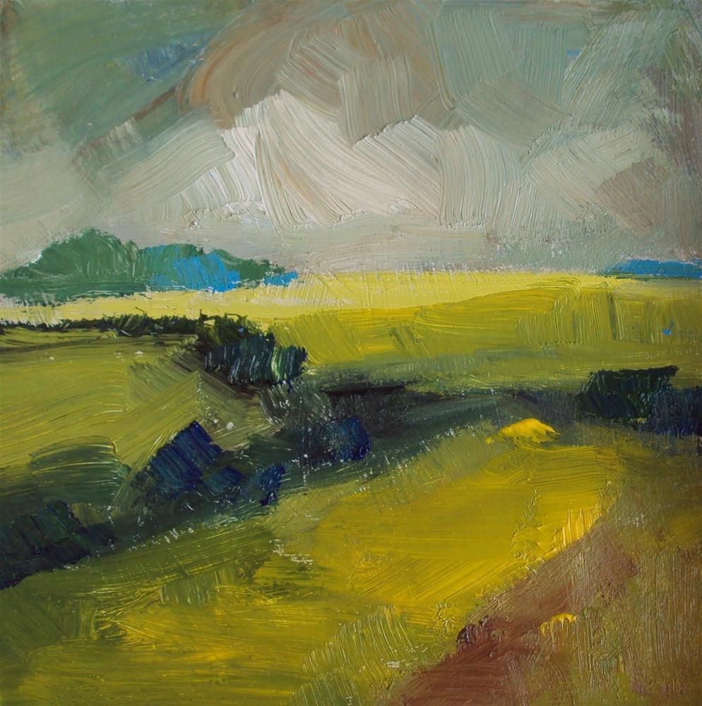 """Golden fields"" original fine art by Parastoo Ganjei"