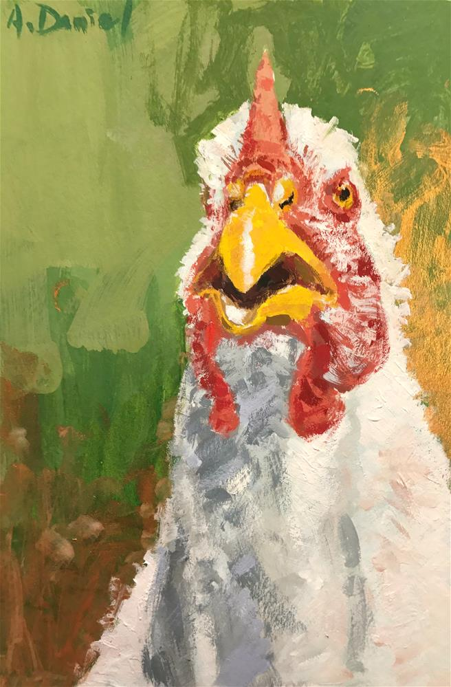 """Chicken Head #7"" original fine art by Andrew Daniel"