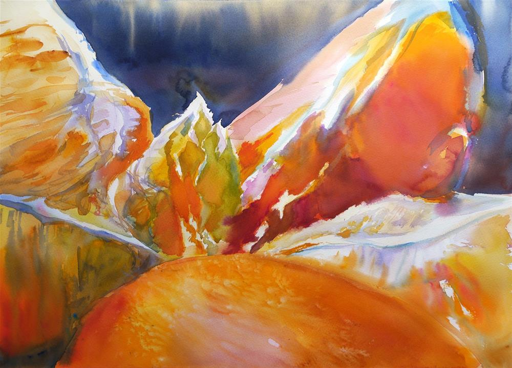 """Mont_orange2"" original fine art by Beata Musial-Tomaszewska"