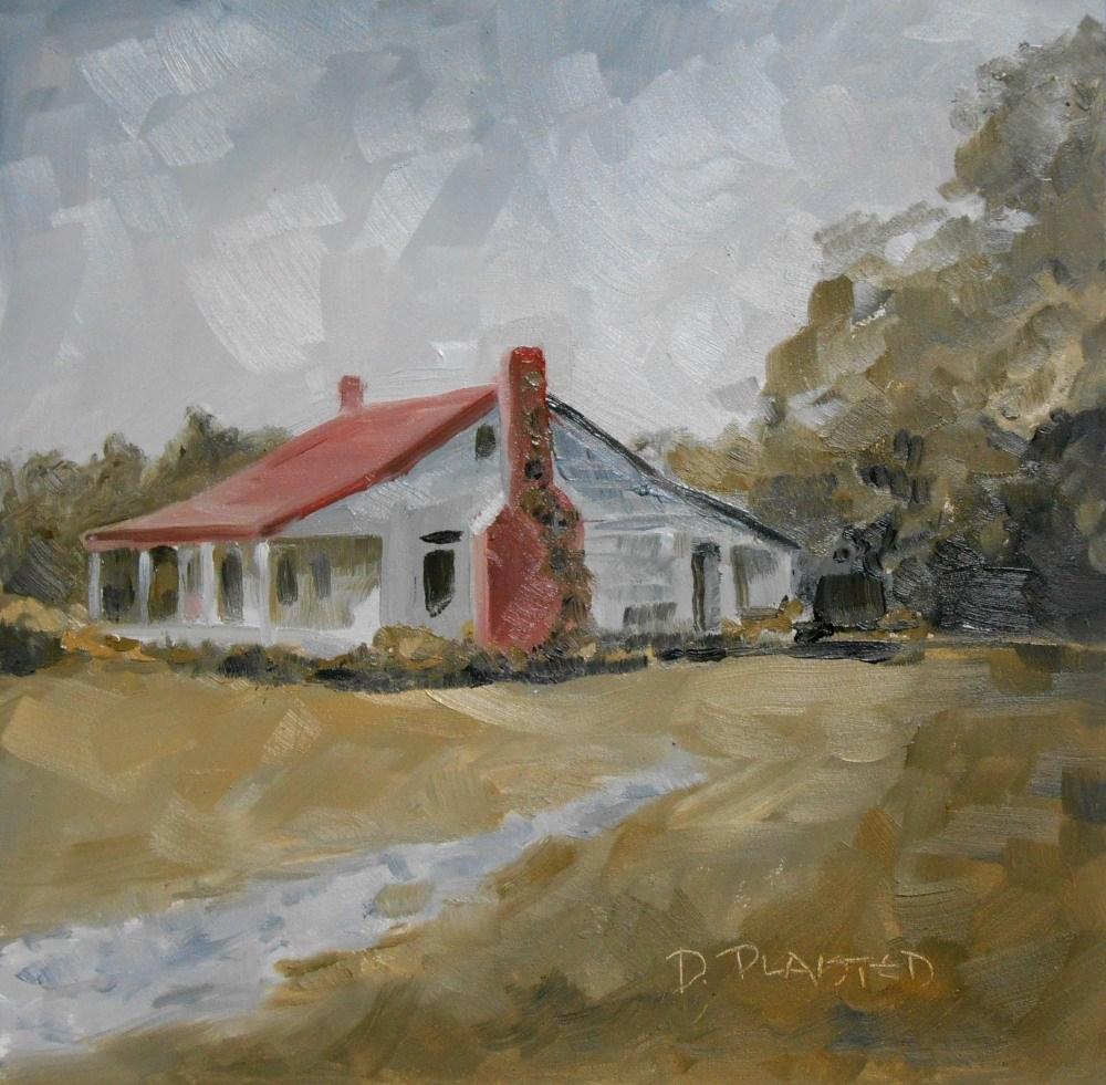"""Old House"" original fine art by Diane Plaisted"