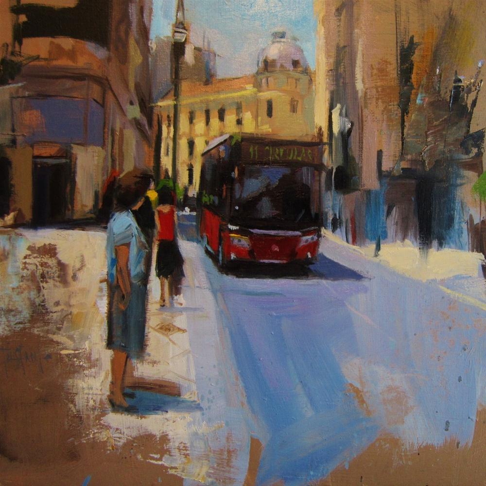 """Calle Reyes"" original fine art by Víctor Tristante"