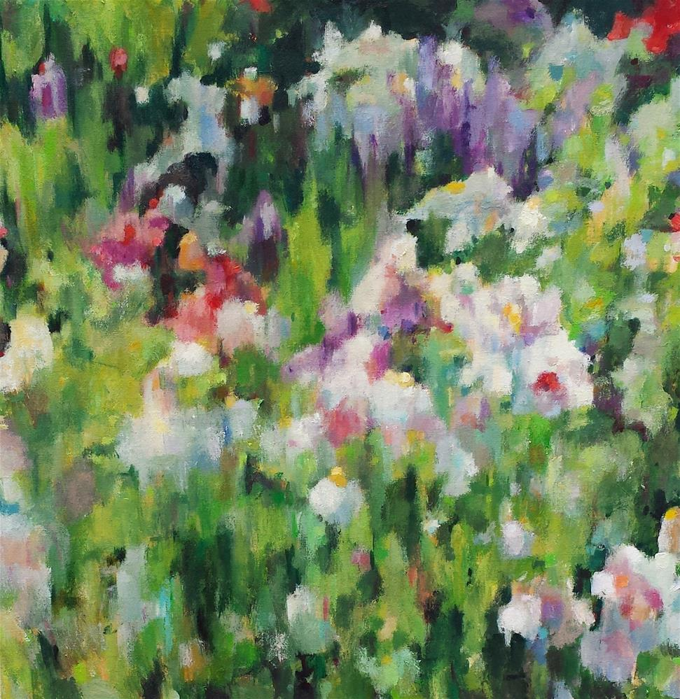 """Wildflower Abstract 5"" original fine art by Nava Judith"
