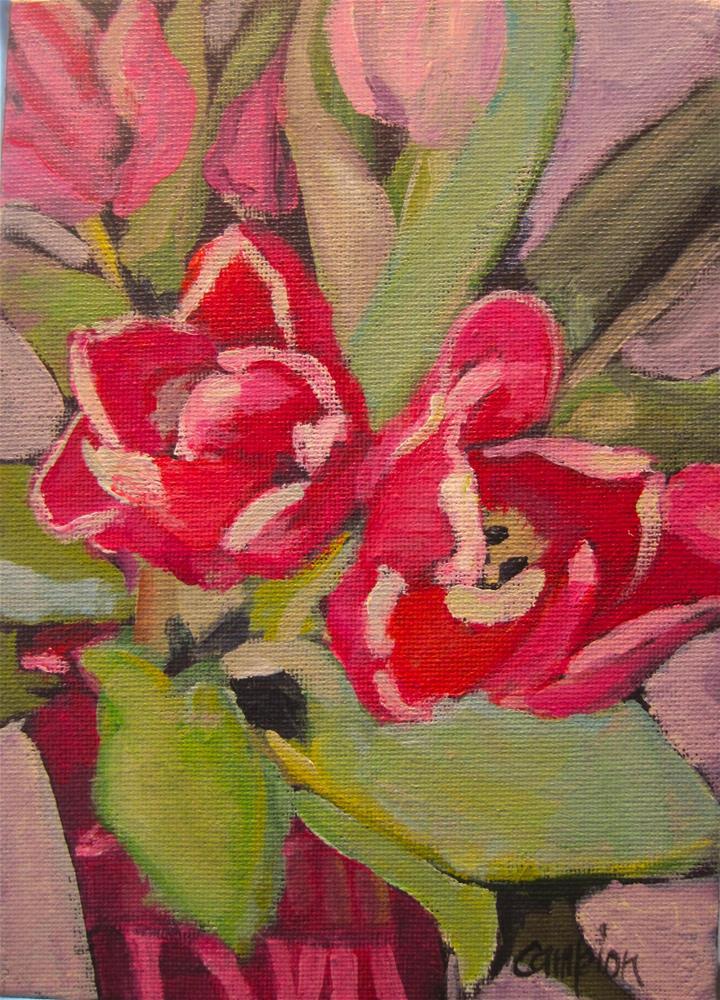 """""""290. Valentine Tulips"""" original fine art by Diane Campion"""