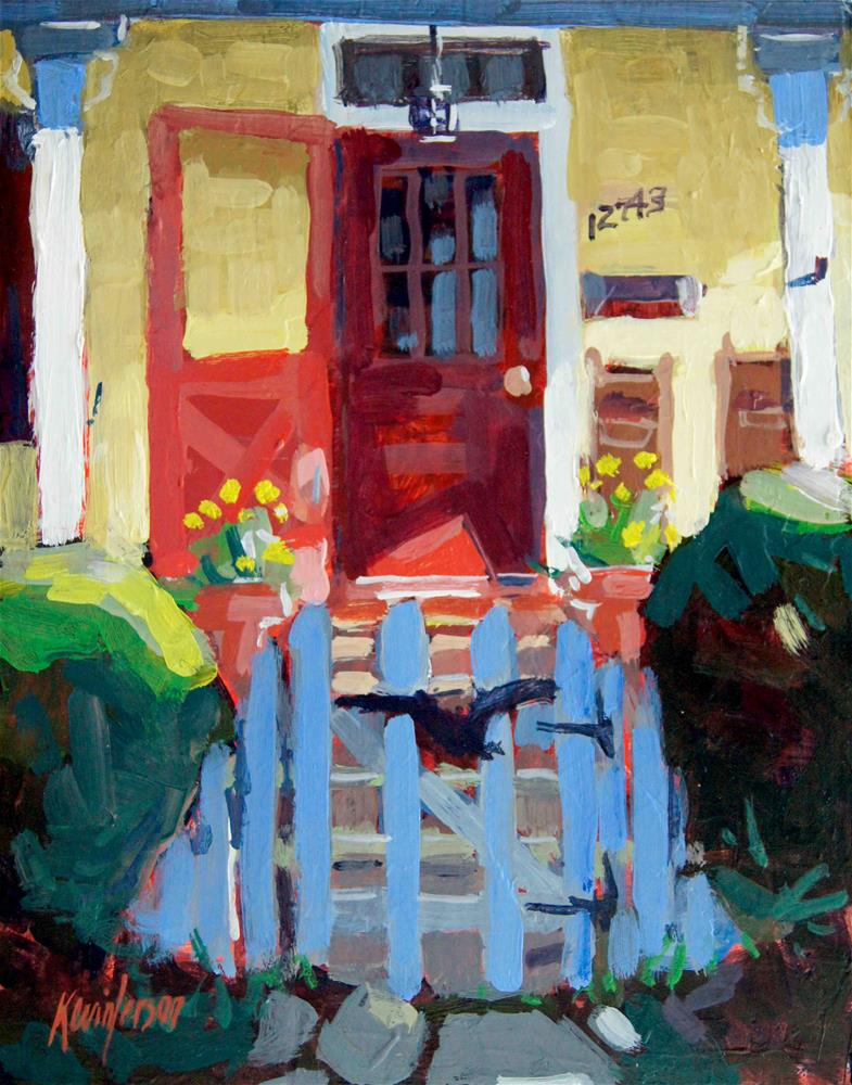 """12743 Porch"" original fine art by Kevin Larson"