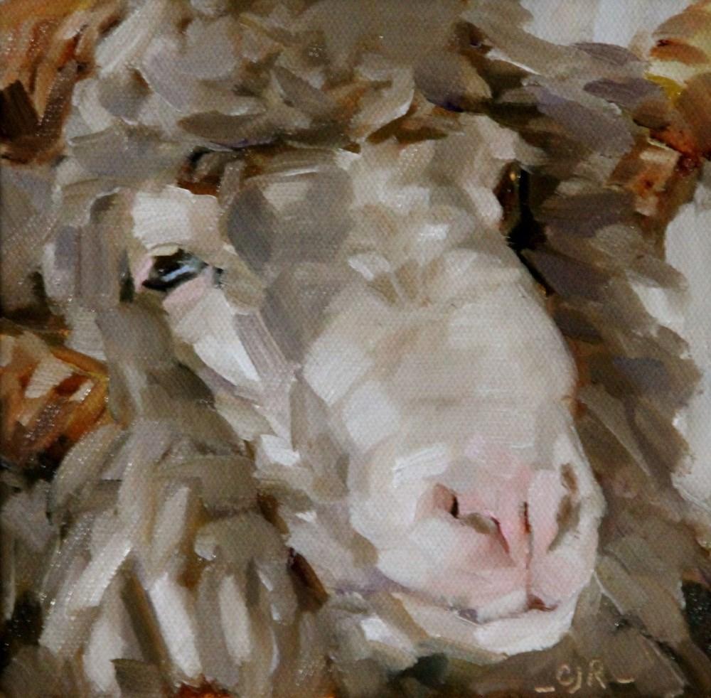 """A Ram"" original fine art by C J Roughton"