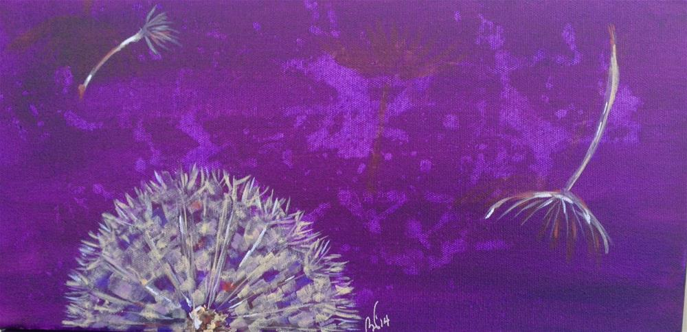 """Dandelion - purple"" original fine art by Bev Thibault"