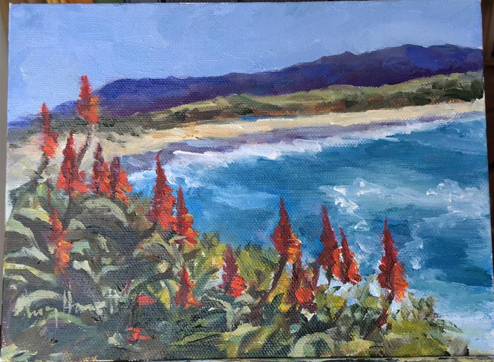 """Red Hot and Blue"" original fine art by Lucy Hammett"