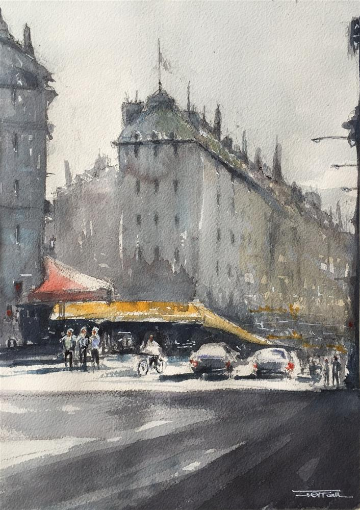 """STREET OF PARÍS"" original fine art by Ferran Llagostera"