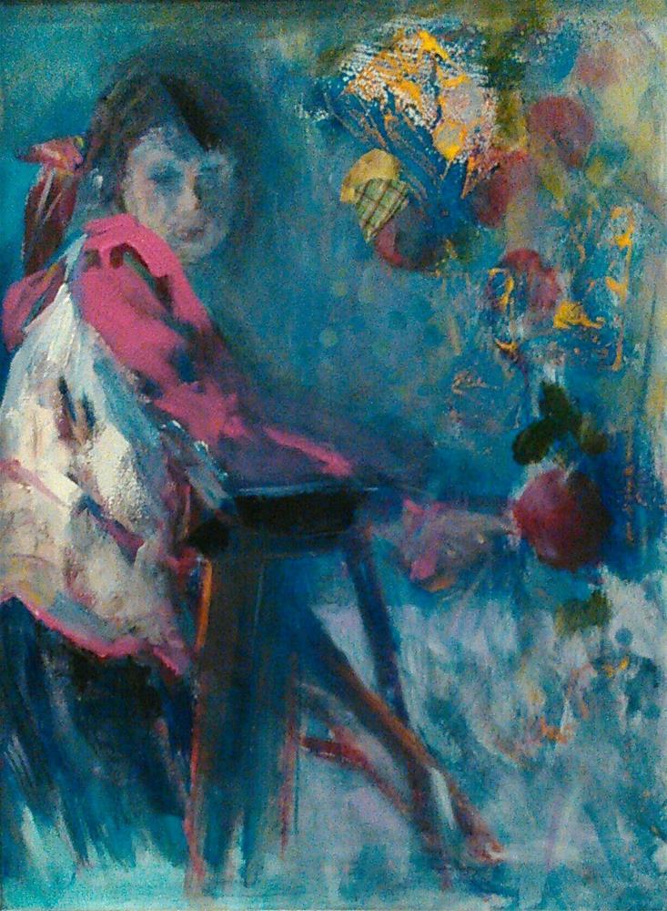 """Undaunted"" original fine art by Ann Rudd"