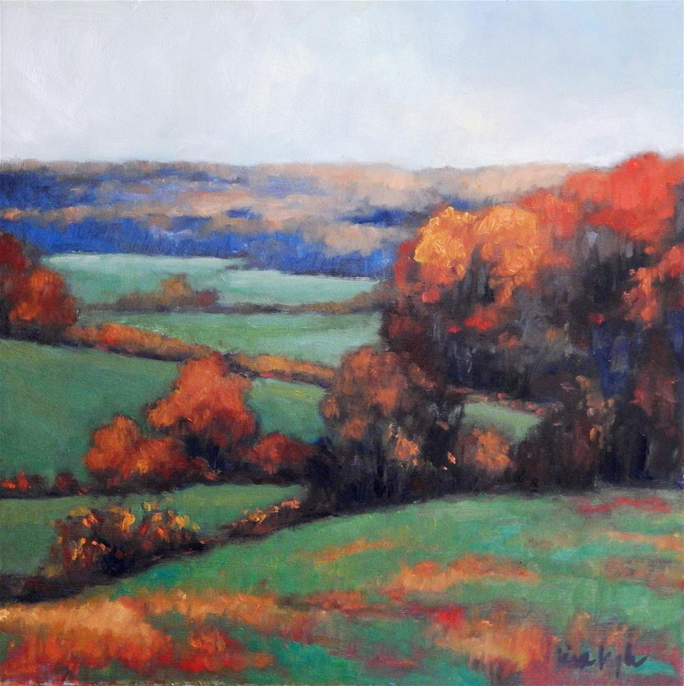 """Autumn in the County"" original fine art by Lisa Kyle"