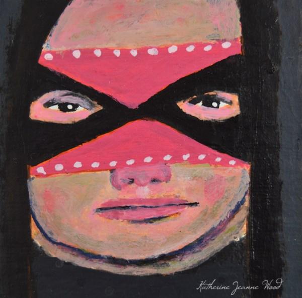 """""""Masquerade Mask No 9"""" original fine art by Katie Jeanne Wood"""