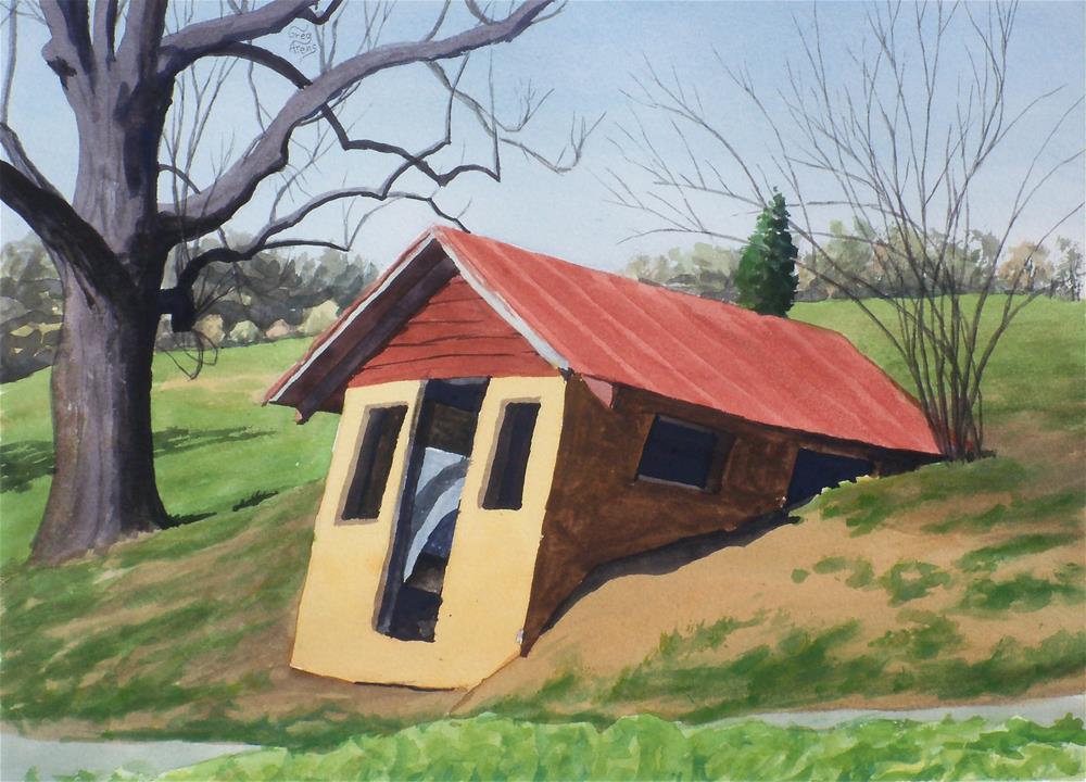 """Seals' Root Cellar"" original fine art by Greg Arens"