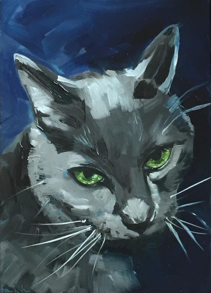 """I'm The Cat"" original fine art by Karen Laken"