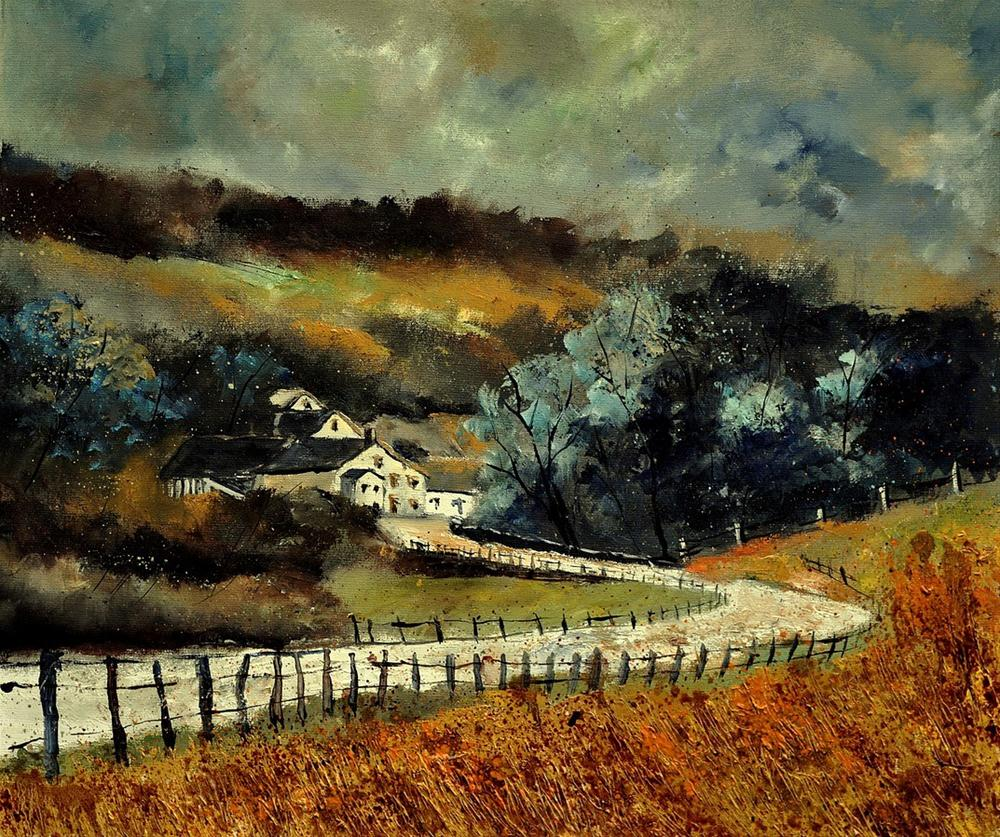 """sechery in autumn"" original fine art by Pol Ledent"