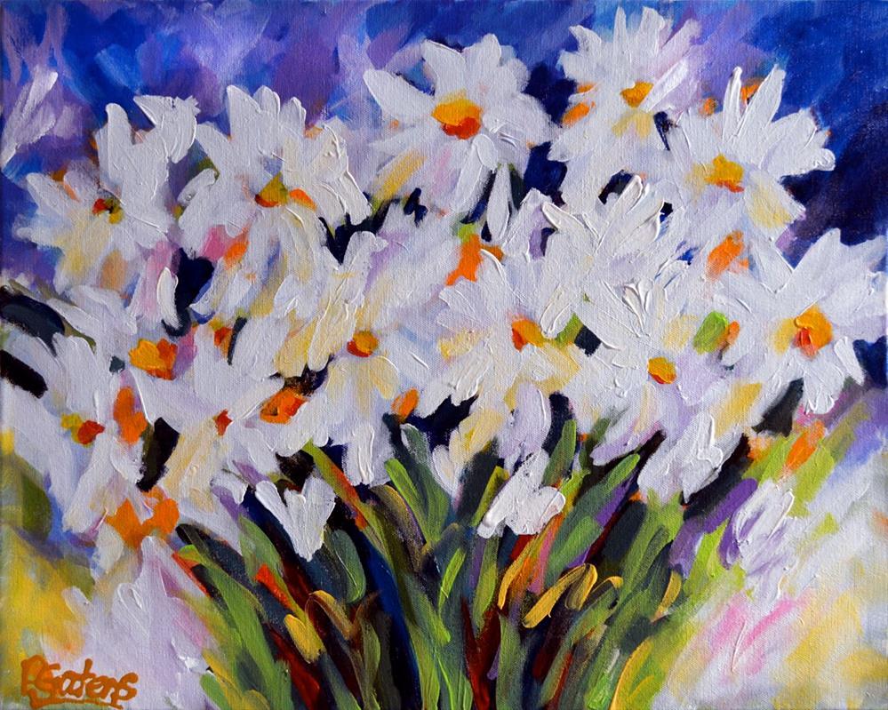 """""""Summer Daisies"""" original fine art by Pamela Gatens"""