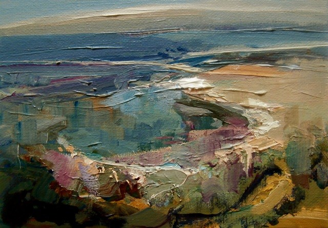 """Coastal Zone"" original fine art by Anne Wood"