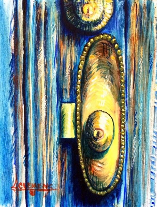 """Old Market Door"" original fine art by Jolynn Clemens"