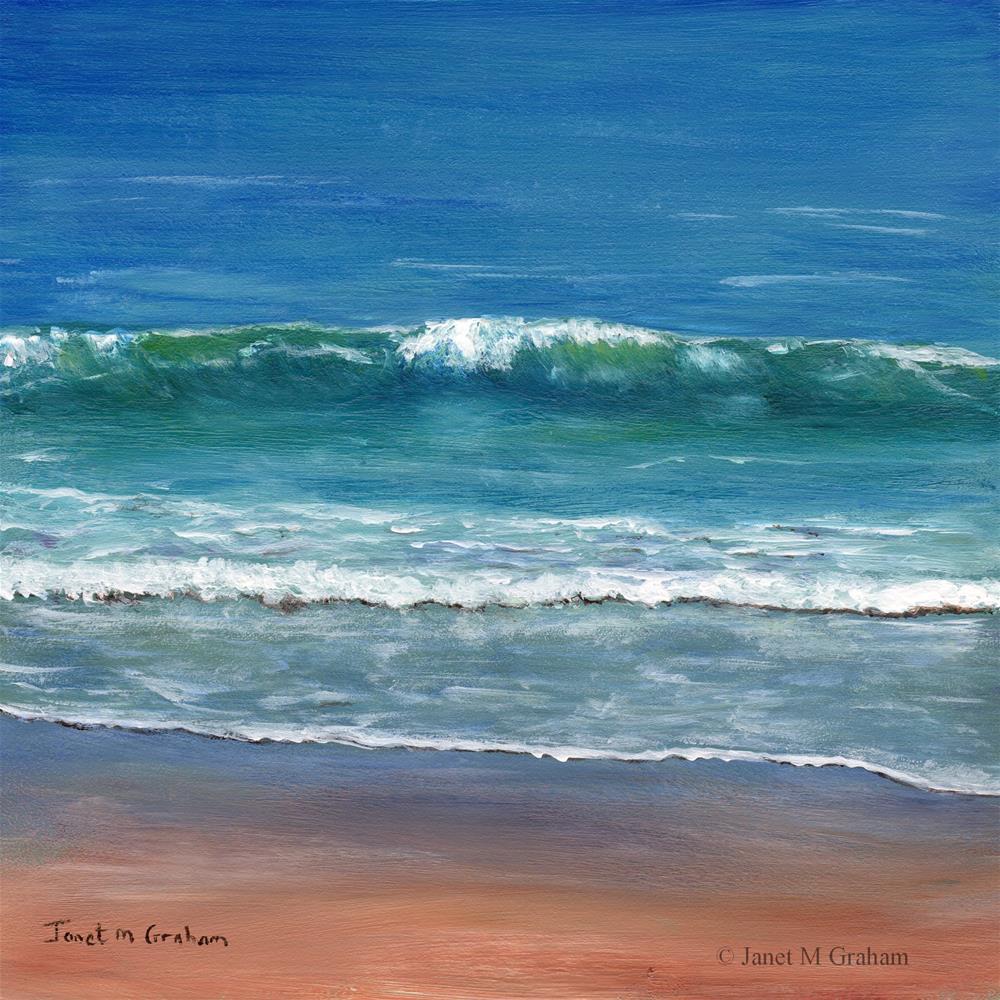 """""""Burleigh Beach"""" original fine art by Janet Graham"""