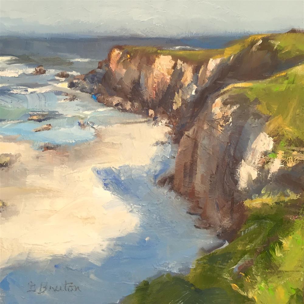 """Sea Cliffs"" original fine art by Gary Bruton"