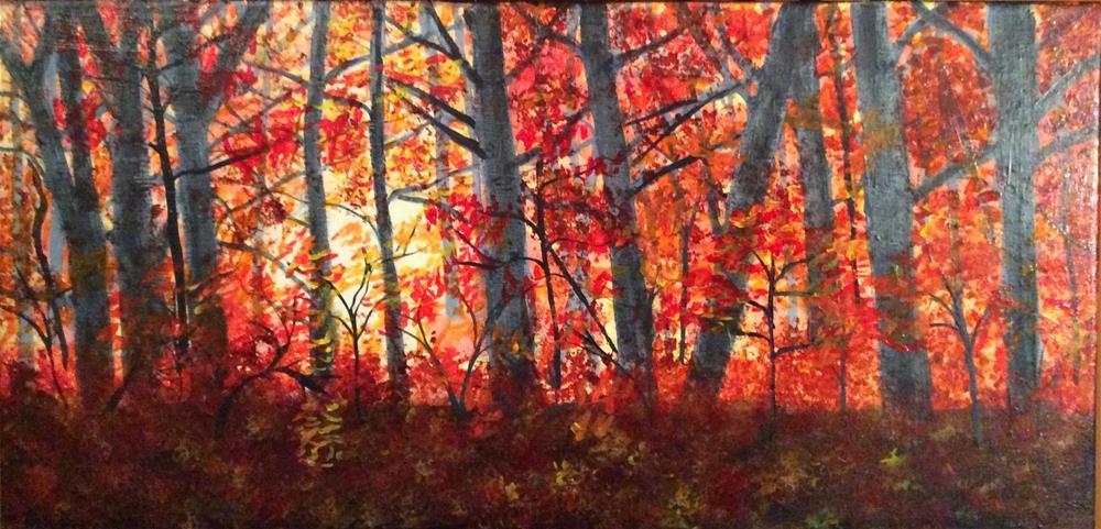 """Sunset In Autumn"" original fine art by Sharon Cullen"