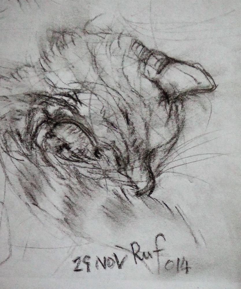 """""""My Ruf"""" original fine art by Mitsuru Cope"""