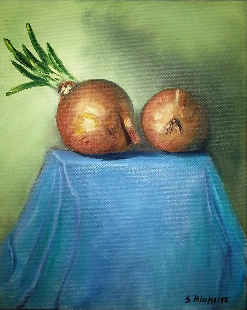 """Onion Study/Painting Faster"" original fine art by Sissy Blakslee"