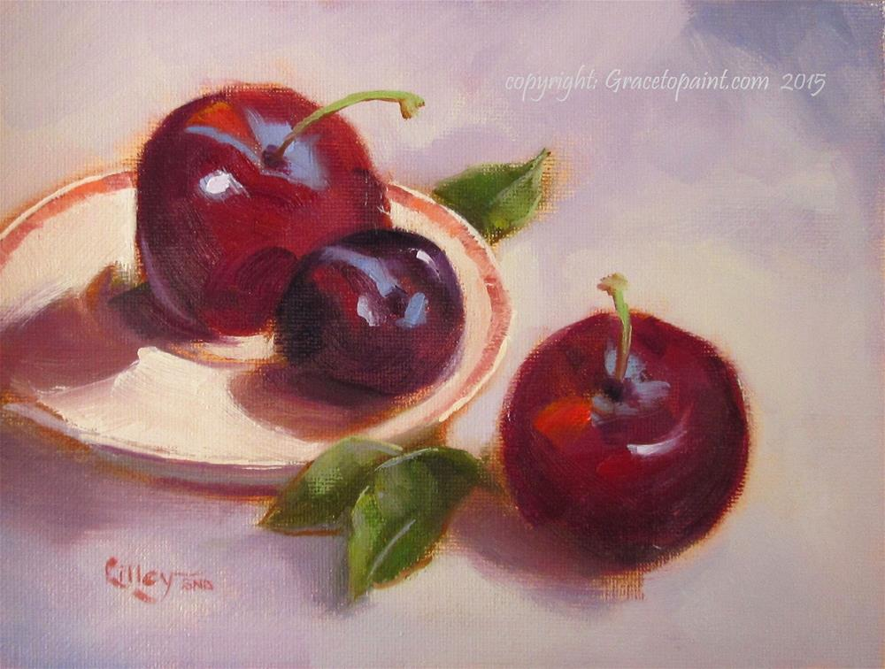 """""""Plums"""" original fine art by Maresa Lilley"""