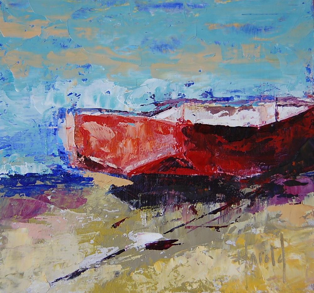 """""""Rustic Dinghy"""" original fine art by Deborah Harold"""