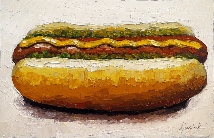 """Hot Dog"" original fine art by Karin Jurick"