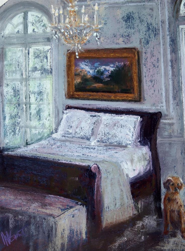 """Upper East Side Bedroom"" original fine art by Michelle Wells Grant"