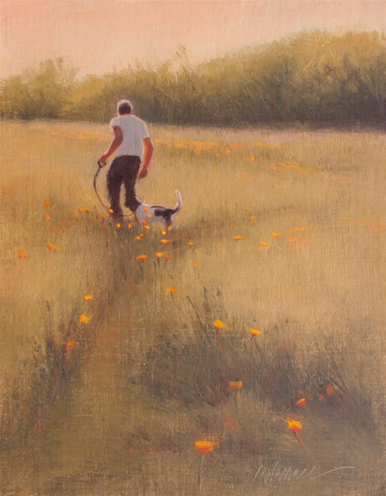 """#107 Poppy perspectives"" original fine art by Nancy Wallace"