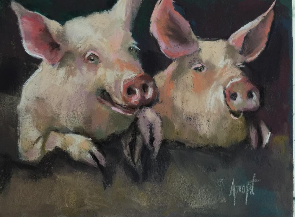 """Best Friends"" original fine art by Anne Marie Propst"