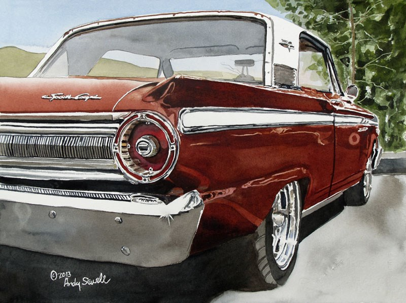"""63 Fairlane"" original fine art by Andy Sewell"