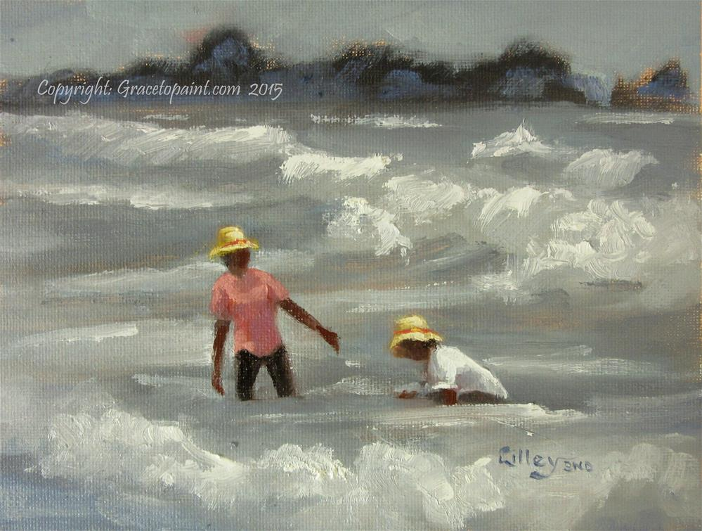 """Taking in the Waves"" original fine art by Maresa Lilley"