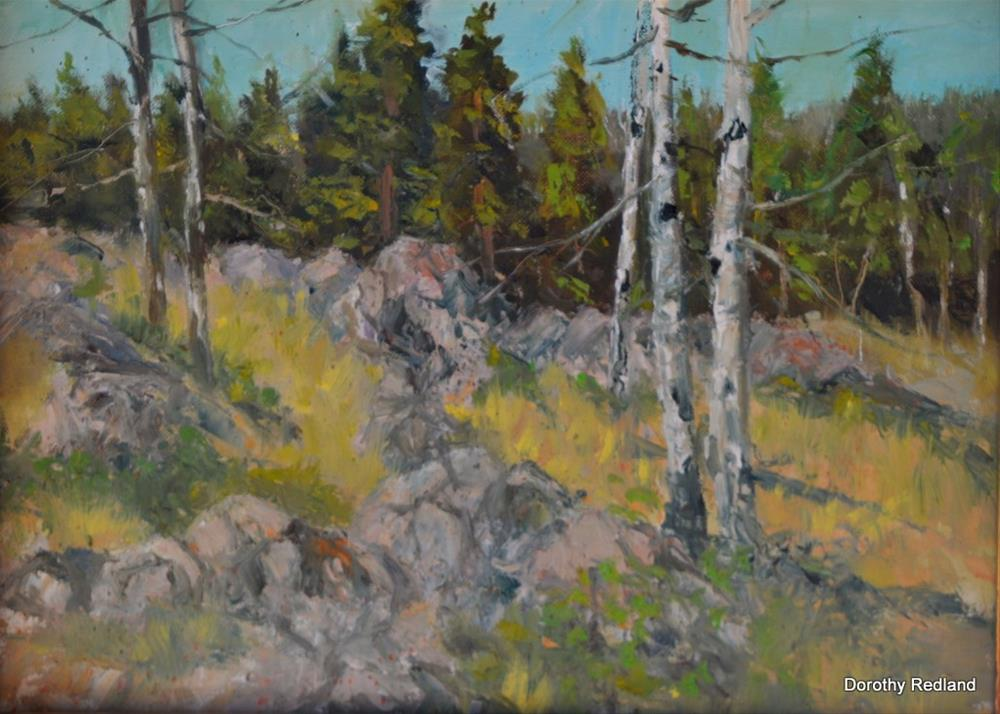 """SUMMER ON THE MOUNTAIN"" original fine art by Dorothy Redland"
