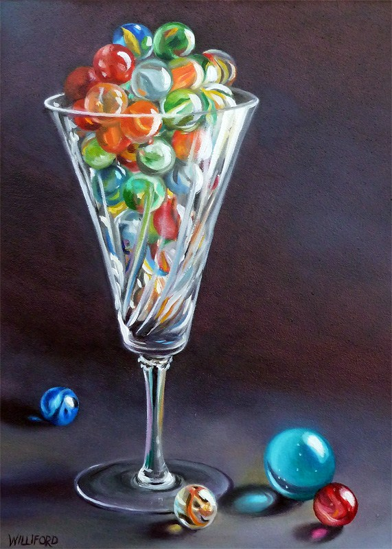"""A Flute of Marbles"" original fine art by Kathleen Williford"