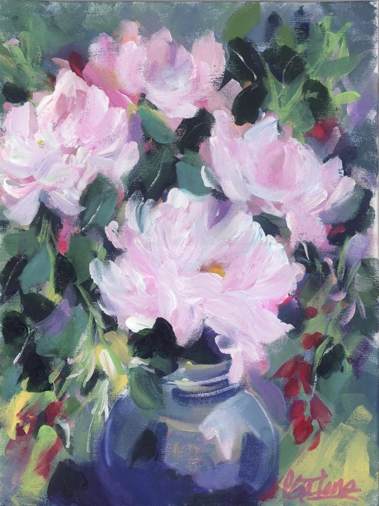 """Pale Pinks"" original fine art by Pamela Gatens"