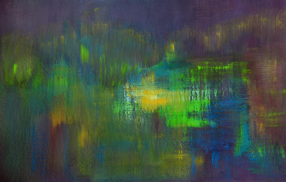 """Colorful Night Lights"" original fine art by Alina Frent"