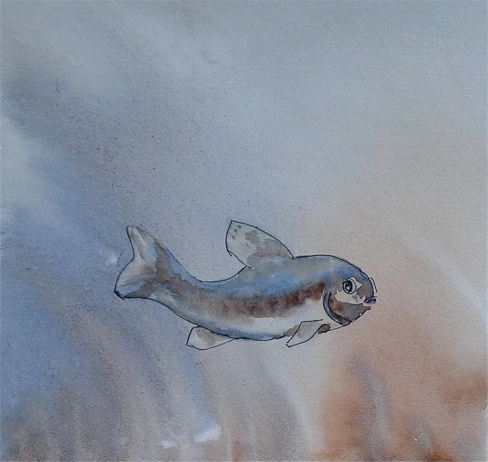"""Little fish"" original fine art by Ulrike Schmidt"