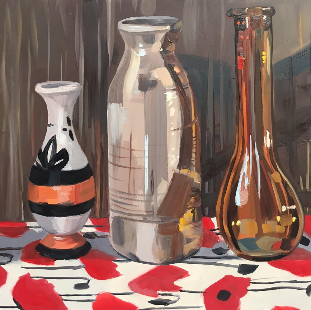 """Three Vases"" original fine art by Katy O'Connor"