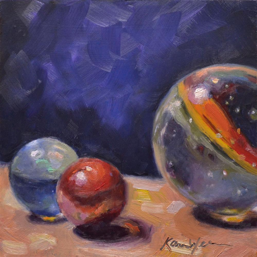 """Glass Planets"" original fine art by Karen Weber"
