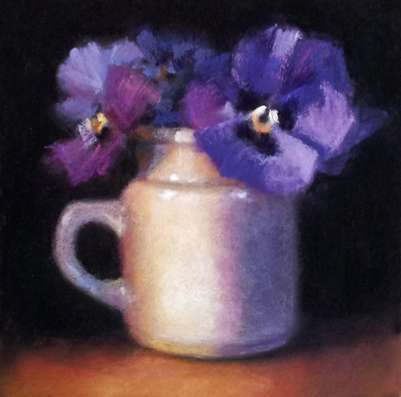 """""""Emma's Pansies"""" original fine art by Cindy Haase"""